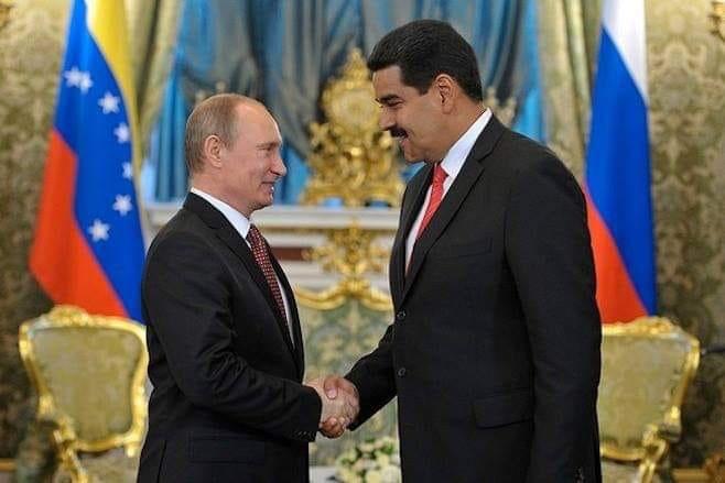 Vladimir Putin e Nicolas Maduro