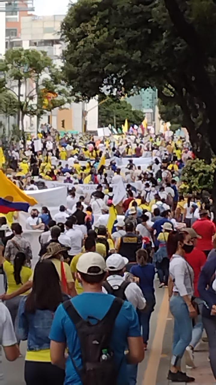 Manifestazione a Bucaramanga in Colombia