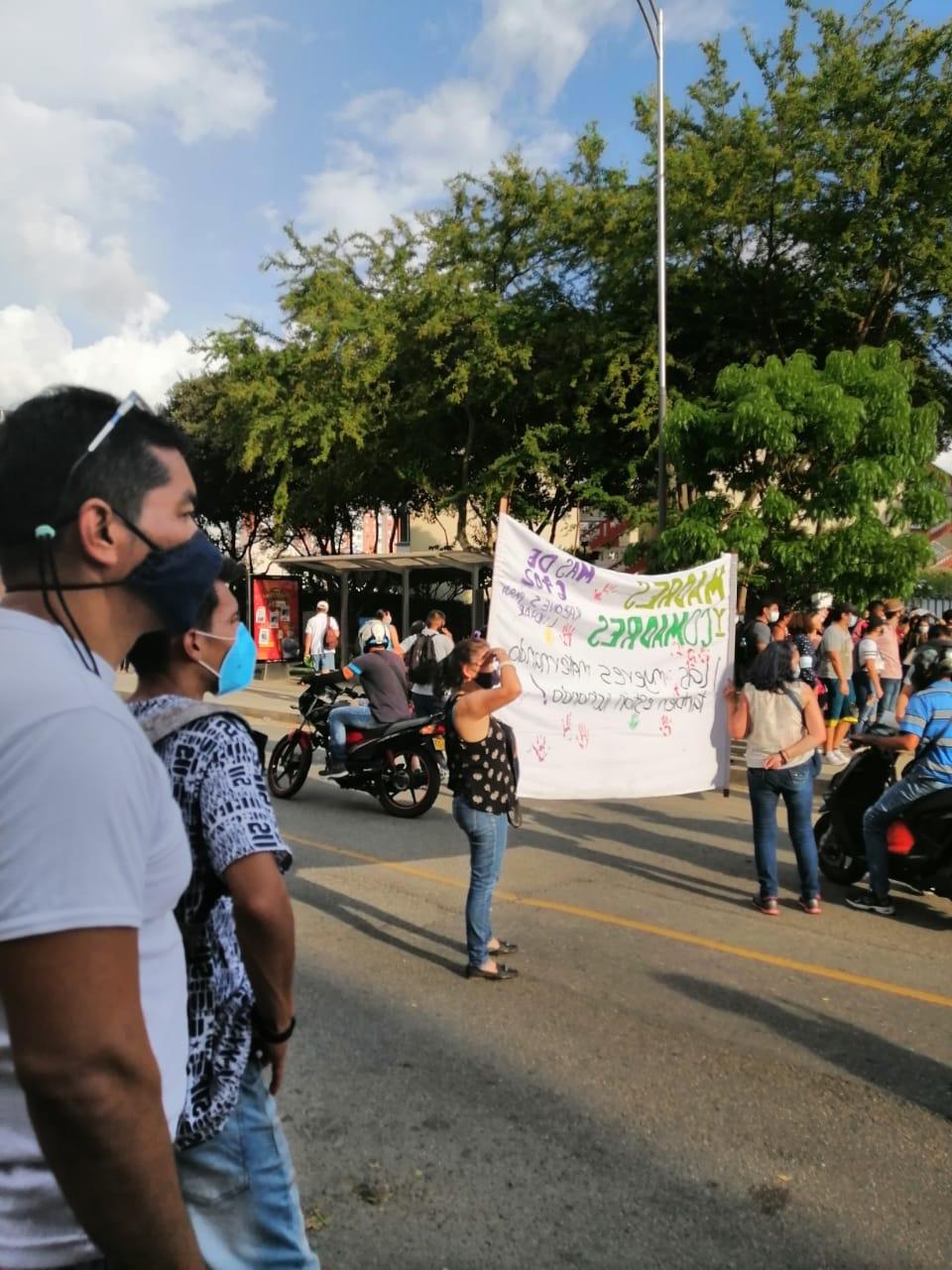 Le donne di Bucaramanga manifestano