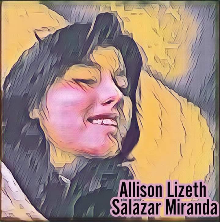 La giovane Allison Lizeth Salazar Miranda